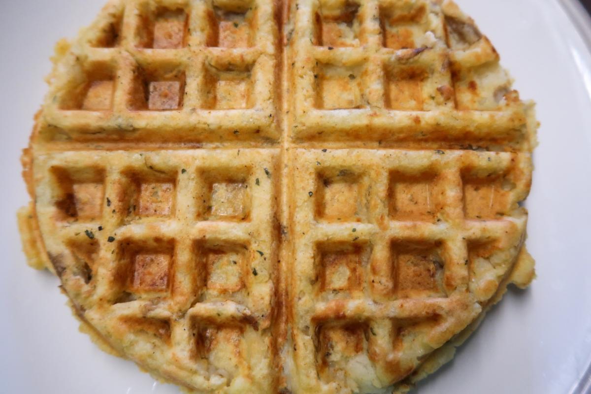 Dairy and gluten free potato waffle